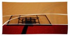 Basketball Shadows Beach Sheet by Karol Livote