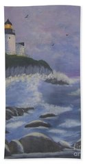 Bass Harbor Beach Towel by Catherine Swerediuk