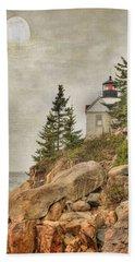 Bass Harbor Head Lighthouse. Acadia National Park Beach Towel