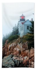 Bass Harbor Head Lighthouse Beach Towel
