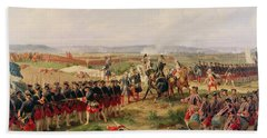 Battle Of Fontenoy, 11 May 1745 The French And Allies Confronting Each Other Beach Towel