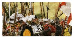 Battle Of Tewkesbury Beach Towel
