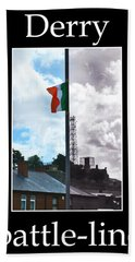 Beach Towel featuring the photograph Battleline by Nina Ficur Feenan