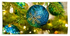 Bauble In A Christmas Tree  Beach Sheet