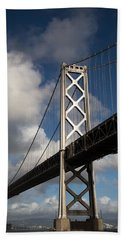Bay Bridge After The Storm Beach Towel