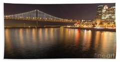 Bay Bridge Lights And City Beach Towel