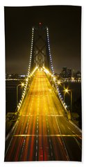 Bay Bridge Traffic Beach Sheet