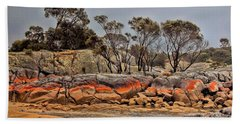 Bay Of Fires 2 Beach Sheet by Wallaroo Images