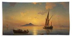 Bay Of Naples Beach Towel