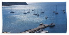 Beach Towel featuring the photograph Bay Of Porto by George Katechis