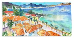 Bay Of Saint Martin Beach Towel