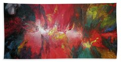 Beach Sheet featuring the painting Bayley - Exploding Star Nebuli by Carrie Maurer