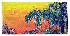 Beach Towel featuring the painting Bayou Honeymoon by Alys Caviness-Gober