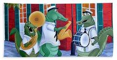 Bayou Street Band Beach Towel