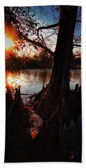 Beach Towel featuring the photograph Bayou Sundown by Robert McCubbin