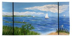 Bayville Trio Beach Towel by Clara Sue Beym