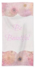 Be Beautiful Daisies Beach Sheet by Inspired Arts