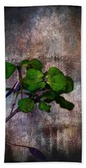 Beach Towel featuring the mixed media Be Green by Aaron Berg