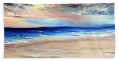 Beach Towel featuring the painting Be Near by Meaghan Troup