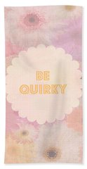 Be Quirky Beach Towel