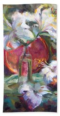 Be Still - Casablanca Lilies With Copper Beach Towel
