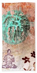 Beach Towel featuring the painting Be The Buddha by Jacqueline McReynolds