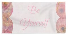 Be Yourself Daisies Beach Towel
