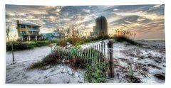 Beach And Buildings Beach Towel