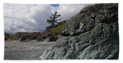 Beach At Fort Rodd Hill Beach Towel by Marilyn Wilson