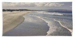 Beach At Santa Monica Beach Towel