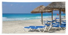 Beach Chairs In Cancun Beach Sheet