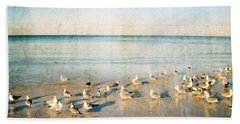 Beach Combers - Seagull Art By Sharon Cummings Beach Towel by Sharon Cummings