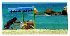 Beach Entrepreneur In San Jose Del Cabo Beach Towel by Barbie Corbett-Newmin