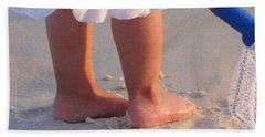 Beach Towel featuring the photograph Beach Feet  by Nava Thompson