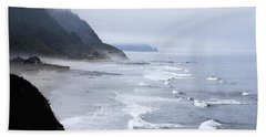 Beach Frontage In Monet Beach Towel by Sharon Elliott