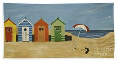 Beach Huts Beach Towel