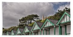 Beach Huts Langland Bay Swansea 3 Beach Towel by Steve Purnell