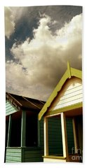 Beach Huts Beach Towel by Vicki Spindler