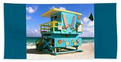 Beach Life In Miami Beach Beach Towel