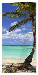 Beach Of A Tropical Island Beach Sheet by Elena Elisseeva