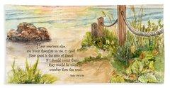 Beach Post Sunrise Psalm 139 Beach Sheet