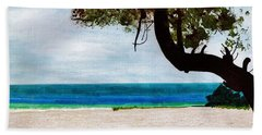 Beach Towel featuring the drawing Beach Side by D Hackett