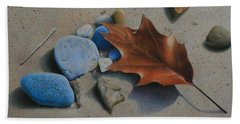 Beach Towel featuring the painting Beach Still Life II by Pamela Clements