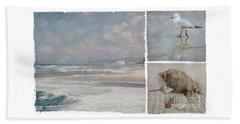 Beach Triptych 1 Beach Towel by Linda Lees