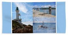 Beach Triptych 2 Beach Towel by Linda Lees