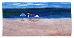 Beach Umbrellas Beach Towel by Jamie Frier