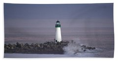 Beacon On The Jetty Beach Towel
