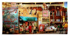 Beale Street Beach Towel by Barbara Chichester