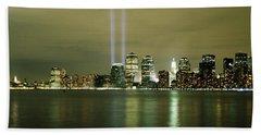 Beams Of Light, New York, New York Beach Towel