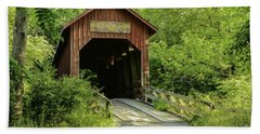 Bean Blossom Covered Bridge Beach Towel